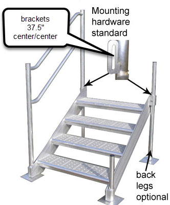 adjustable dock boarding steps