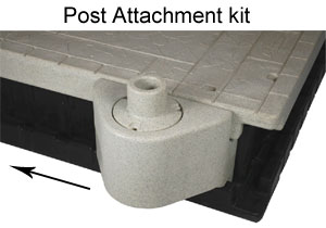 floating dock post attachment kit