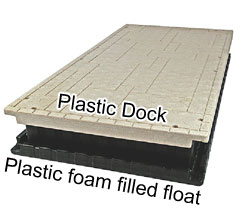 floating dock section