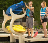 kayak rach for floating dock